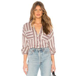 NWT FREE PEOPLE Mad About You Striped Shirt #AC1
